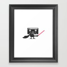 Media Wars: The Cassette Strikes Back Framed Art Print