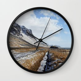 Ocean to Sky in the East Fjords Wall Clock