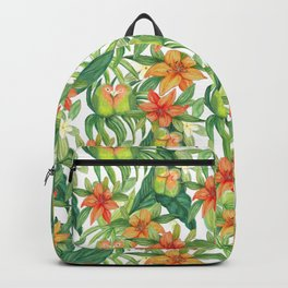 Jungle Tropical Watercolor Greenery Botanical Backpack
