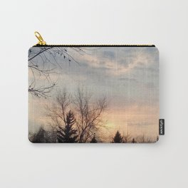 Peach sunset over the trees Carry-All Pouch