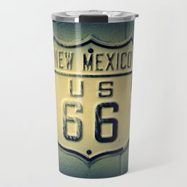 Historic U.S. old Route 66 sign in New Mexico. Travel Mug