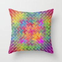 hippy Throw Pillows featuring Hippy by HK Chik