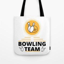 Bowling Team Tote Bag