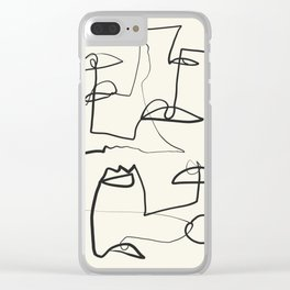 Abstract line art 12 Clear iPhone Case