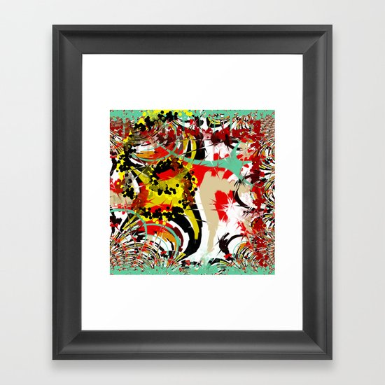 Abstract Funky Pattern Framed Art Print