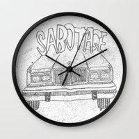 beastie boys Wall Clocks featuring BEASTIE BOYS Y'ALL by Josh LaFayette