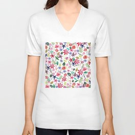 """""""The earth laughs in flowers"""" Unisex V-Neck"""