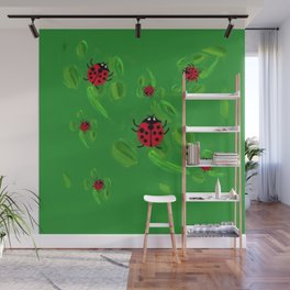 Lucky Lady Bugs of Lucky Seven Wall Mural