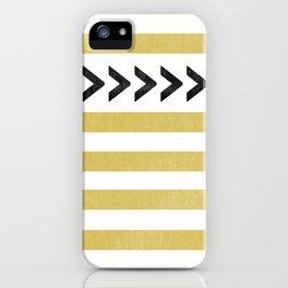 ARROW STRIPE {MUSTARD} iPhone Case