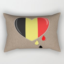 Crying for Belgium Brussels Rectangular Pillow