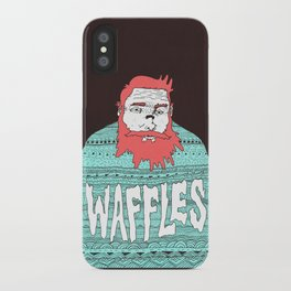 Mister Waffles iPhone Case