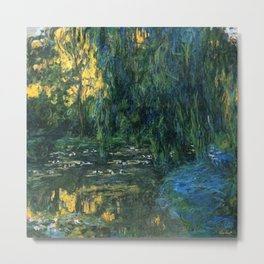 Claude Monet Dark Water  Lilies Metal Print
