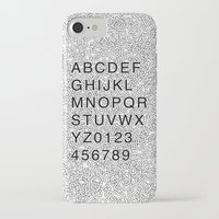 helvetica iPhone & iPod Cases featuring Helvetica Jumble by SpareType