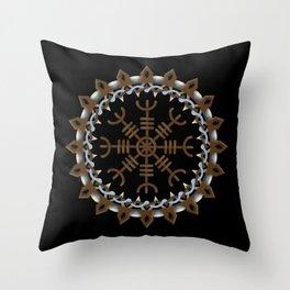 Icelandic Magical Stave - Ægishjálmur  Throw Pillow