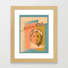 US Senator Hillary Rodham Clinton Framed Art Print