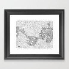 the mole's hyperacidity | white Framed Art Print