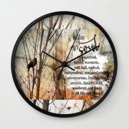 Boho Soul Blackbird Wall Clock
