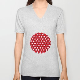 Lantern of white polka dots Unisex V-Neck