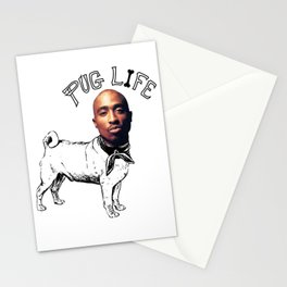 Pug Life for Life Stationery Cards