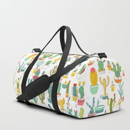 Cactuses in Pots Duffle Bag