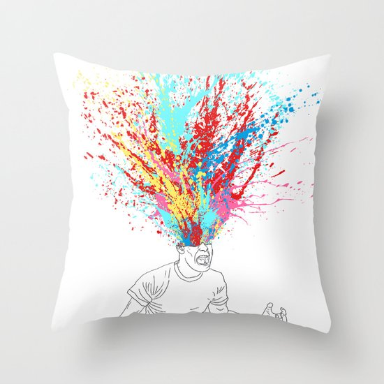 Scream Redux Throw Pillow