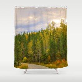 Ashton Idaho - The Road Less Traveled Shower Curtain