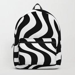 Op Art Waves B&W Backpack