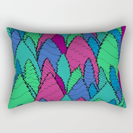 Night Forest Rectangular Pillow