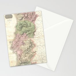 Vintage Map of Portugal (1818) Stationery Cards