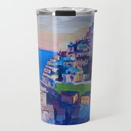 Amazing Amalfi Coast at Sunset in Italy Travel Mug