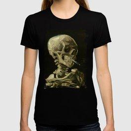 Skull Of A Skeleton With A Burning Cigarette - Vincent Van Gogh T-shirt