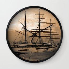 Sea Cloud II tall ship Wall Clock