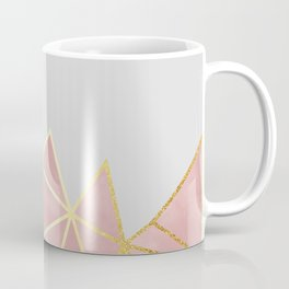 Pink & Gold Geometric Coffee Mug