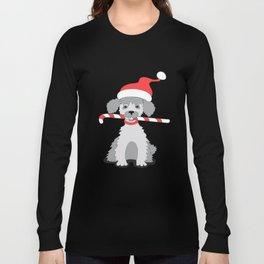 new year puppy with stick Long Sleeve T-shirt