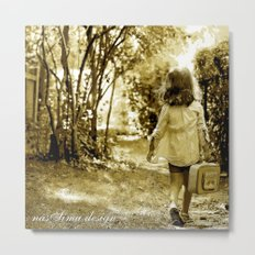 Angel of Hope & Lily Gold Metal Print