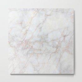 White Marble 004 Metal Print