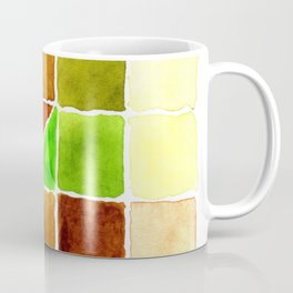 Color Chart - Quinacridone Burnt Orange DS and Phthalo Yellow Green DS Coffee Mug