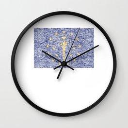 Vintage Mid Century Modern Indiana Wall Clock