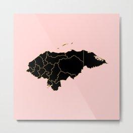 Honduras map Metal Print
