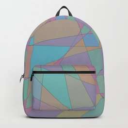 Shattered - Abstract Line Art Backpack