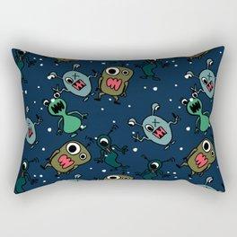 Monster alien pattern seamless background Rectangular Pillow