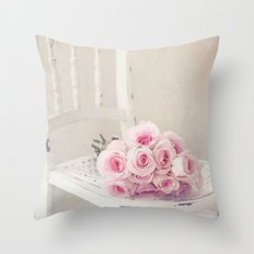 Ballerina Roses Throw Pillow