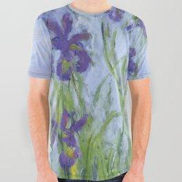 "Claude Monet ""Iris mauves"" All Over Graphic Tee"