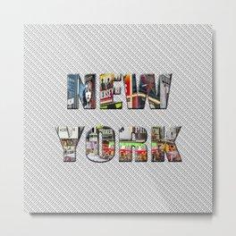 New York (color type on mono) Metal Print