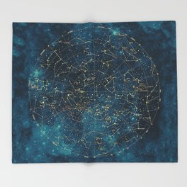 Under Constellations Throw Blanket
