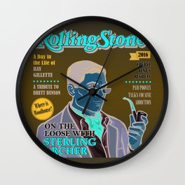 Sterling Archer is a Rolling Stone Wall Clock