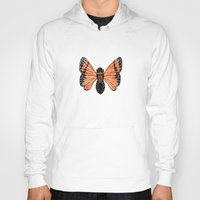 moth Hoodies featuring Moth by Eric Weiand
