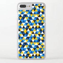 Colorful Triangles Pattern 1 Clear iPhone Case