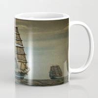 ships Mugs featuring Ships by InDepth Designs