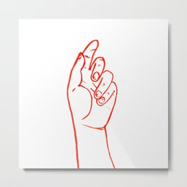 The hand part 1 #eclecticart Metal Print